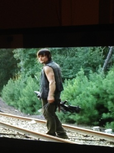 Daryl was looking so fine in this scene that I paused the dvr and went to find my husband for a quick