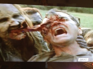 Nicotero and the effects/makeup crew outdid themselves with this episode, this scene especially (which serves as gruesome inspiration for Rick in a desperate situation soon to come...epic gore and new-classic WD moments abound in this episode!)