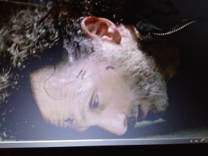 Rick's head slams on the concrete...