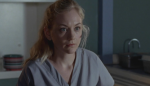 Beth replies that she remembers fighting off a walker, then everything went black,