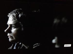 Carol refuses to look Daryl, tells him,