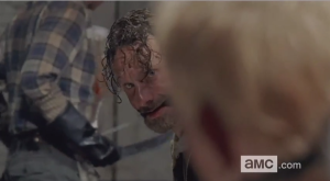 At first, Rick looks at Sam...