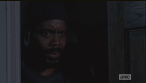 Tyrese, Glenn, Tara, and Maggie watch the brutal massacre in horror.