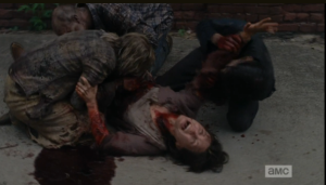 walkers go cannibal on terminus