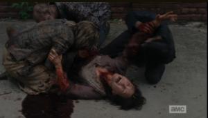 walkers go cannibal on terminus