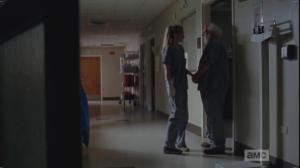 Beth makes the contraband exchange with an elder gentleman...