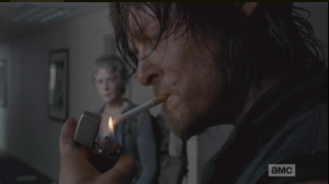 The money shot....Daryl lights up, then tells Noah that he helped him once before, and he's done.
