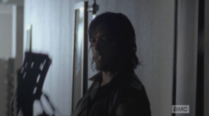 Of course, Daryl won't let the young man die, but it seems he thought about it, for a moment, before doing the right thing.  A lesson, though, for both Noah, and Carol, whose pendulum seems to have found its middle ground.  Daryl looks at her significantly before walking out of the room.