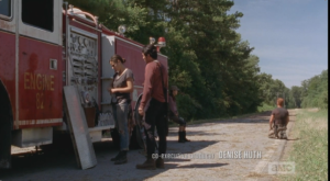 As Abraham self-implodes, on his knees, in the hot sun, Glenn tells Tara that the walkers have no idea they are there (...yet.).