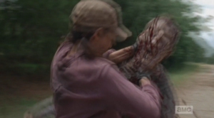...Rosita goes for the throat.