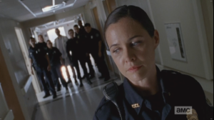 Dawn glances back at her officers, afraid to look like she is losing face in this deal...