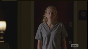 Beth stares, frozen, unable to reply right away as Dawn quickly cuts in, telling Officer OD,
