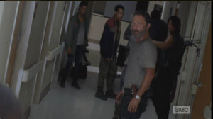 As Rick and the gang turn to leave, Dawn says to their retreating backs,