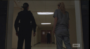 A noise from down the hallway startles Beth and Dawn...they turn to find Officer OD standing there. It seems he has been there a while, and has overheard all the dirty deets.