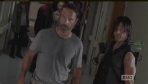 Daryl steps foward, says Noah isn't going back to Dawn. Rick says the boy wants to go home, and that Dawn doesn't have any claim to him.