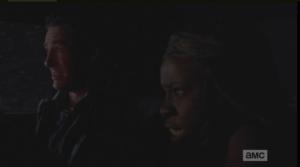 aaron and michonne freaking