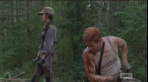 Abraham turns towards Rosita.