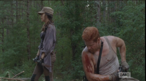 Abraham turns towards Rosita.