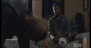 Bob tells Tyreese that it's ok that he didn't want to be a part of it any longer.