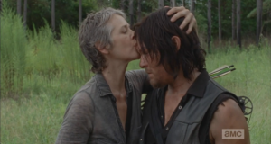 carol kisses daryl on head