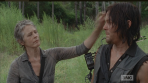 carol smooths daryls hair