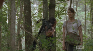 daryl and maggie turn away
