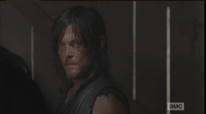As Daryl, and the rest of the gang, listen, Aaron continues his spiel,