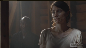Maggie interrupts the sexual tension by siding with Michonne.