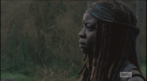 michonne answers that she heard nothing