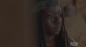 michonne is pleased