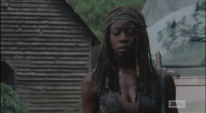 michonne out by car 1