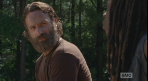I think, judging from the recent pictures of Andrew Lincoln, and the recent interviews, that a clean shave is in Rick Grimes' not-too-distant-future...and if it's Michonne who does the shaving, well, I would pretty much die of happiness at that scene, as well.