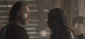 michonne talks to rick 1
