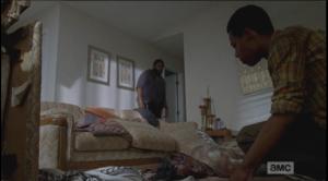 noah bends over his dead mom