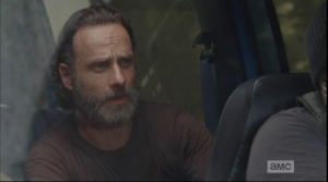 Looking like a beautiful sage, Rick tells Tyreese to pull over in the woods, that they will take the rest of the way on foot, stealth-style.