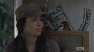 rosita is sad remembering