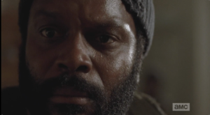 shadowy figure behind tyreese