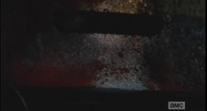 walker guts on the windshield