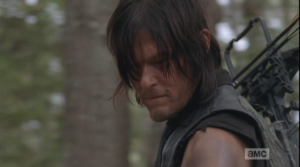 Daryl tells Aaron that he doesn't have anything to prove. He tells Aaron that he's met a lot of bad people, out here, and has seen, experienced a lot of bad things, and those people