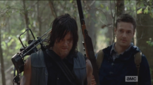 Aaron tells Daryl that people are afraid of what they don't know, so Daryl should let the others in Alexandria get to know him a little better.