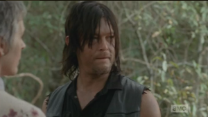 Carol turns to Daryl at this, adds,