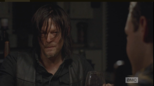 Daryl looks at Aaron.