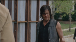 Daryl steps up, with a little smile...this is more like it!