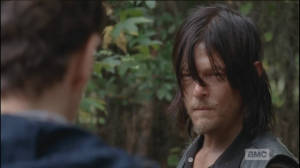 Aaron asks, over Daryl's silence,
