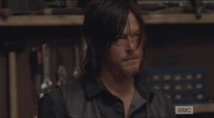 Daryl takes this all in, then says, finally, that he doesn't have anything else to do, so ok...and after a moment, he gives Aaron this sweet look, and says, quietly,