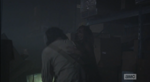 ...Eugene gets grabbed from behind by Sneaky, Snappy Walker...