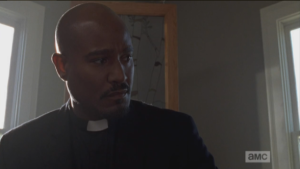 This sweet offering to Gabriel from a member of his new congregation seems to be bringing up some painful memories and self-loathing for Gabriel.  Seth Gilliam once again delivers a powerful performance as the tortured priest who cannot forgive himself for the sins of his past.