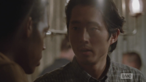 Glenn and Maggie approach Noah, and Glenn asks him if everything's ok.  Noah says yeah, this just isn't really his thing, and he tells them he's gonna head out.