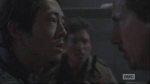 Nicholas may suck ass, but Glenn needs him. He pulls Nicholas close and tells him, yes, they can, but he needs his help.