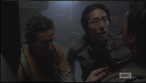 Glenn tries to reassure Aiden.
